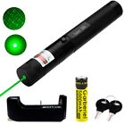 10Miles 532nm 1mW Green Laser Pointer Pen Visible Beam Light + 18650 &Charger US