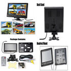 9'' TFT LCD Split Screen Quad Headrest Monitor Surveillance W/4 RCA Connectors