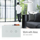 3 Gang Smart WIFI Wall Face Panel Touch Switch Remote Control Timer for ALEXA US