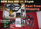 New Garrett Ace 400 Metal Detector with Z-Lynk & Extra Items  Free Shipping