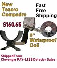 """NEW Tesoro Compadre Metal Detector with 8"""" Waterproof Coil * Fast FREE Shipping"""