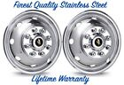 """16"""" FORD E350 E450 8 LUG 8 HOLE 2 FRONT SNAP-ON WHEEL COVER RIM LINER HUBCAPS ©"""