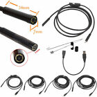 2/5/7/10/15m&5.5/7mm USB Waterproof Endoscope Borescope Snake Inspection Came ME