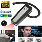 Mini 1080P HD Hidden Bluetooth DVR Headset Camera Wearable Video Recorder