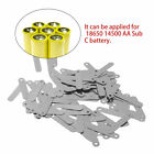 100pcs 2.5x0.5cm SPCC Nickel Solder Tabs For 18650 14500 AA Sub C Battery LU