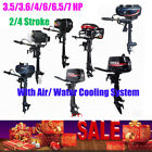 3.5/3.6/4/6/6.5/7HP Outboard Motor Engine W/ Air/ Water Cooling System 2/4Stroke