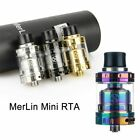 Merlin Mini RTA Tank 24mm 2ML Single/Dual Coil Deck Dual Airflow For Augvape New