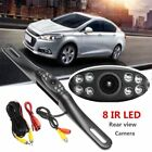 Metal IR 8 LED Night Vision Car License Plate Rear view Reverse Backup Camera W
