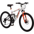 """24"""" Mongoose Trail Blazer Boys Mountain Bike, White"""