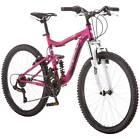 """24"""" Ledge 2.1 Girls' Mountain Bike, 21 Speed Aluminum Full Suspension Frame Pink"""