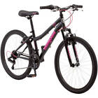 "24"" Excursion Girls' Mountain Bike 21-Speed Twist Shifters Steel Frame Black NEW"
