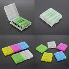2Pcs Hard Plastic Case Cover Storage Organizer Holder Box For AA / AAA Battery