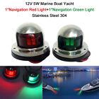 Marine Boat Pontoons Yacht Light Stainless Steel LED Bow Navigation Lights J0L4