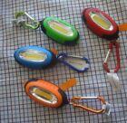 Set of 4 Illumibrite COB LED Keychain  Light Magnetic  Assorted Colors