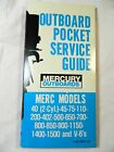 Mercury Marine Outboards Pocket Service Repair Guide, C-90-76020 (127), 1970s
