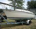 Solid AMF 23 Pace Ship Shoal Draft Sailboat With Trailer Outboard And Nice Sails