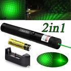 10Miles 1mW G303 Green Laser Pointer Lazer Pen 532nm Beam Light + 18650 &Charger