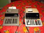 LOT OF 2 SHARP Printing Desktop CALCULATOR'S Two Color Model EL-2630P+ CS-2164H