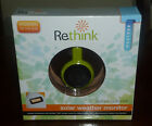 New 100% Solar Weather Monitor by RETHINK Green Indoor Or Outdoor