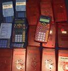 Lot Of 20 Texas Instruments TI-10 Red TI-15 Blue Classroom Calculators W Covers