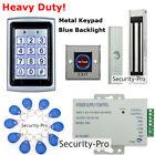 125KHZ RFID Card+Password Metal Door Access Control+Door Magnetic Lock+IR Exit
