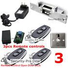 Door Access Control System + NC Door Strike Lock + 3PCS Wireless Remote Controls