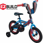 "Boys Bicycle 12"" Marvel Spider-Man Children's EZ Build Bike Training Wheels NEW"
