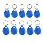 10PCS RFID Proximity Rewritable ID Door Entry Access Key Tag Fob 125KHz/13.56MHz