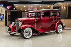 Ford Model A Tudor Sedan Street Rod Custom Build, Steel Body! GM 350ci V8, TH350 Automatic, PB, Disc, A/C, TCI Frame