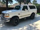 1992 Ford Bronco  '92 FORD BRONCO, 5.8 LITER, 4X WHEEL DRIVE, WHITE w RED INTERIOR, 4 NEW ATV'S