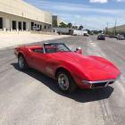 1968 Chevrolet Corvette  1968 CHEVROLET CORVETTE STINGRAY CONVERTIBLE RED WHITE GARAGE KEPT  AUTOMATIC
