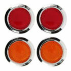 Pilot Automotive 2 Red and Amber Reflector - 4 Pack
