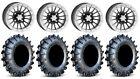 "ITP SD Beadlock 14"" Wheels 28"" MotoBoss Tires Textron Wildcat XX"
