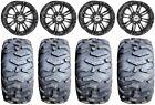 "STI HD3 14"" Wheels Black 26"" MotoForce Tires Textron Wildcat XX"