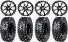 "STI HD4 15"" Wheels Black 32"" Chicane RX Tires Polaris RZR Turbo S / RS1"