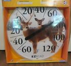 "12.5"" Indoor Outdoor EZ-READ Deer Thermometer NEW"