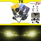 LED Kit 7S 50W 9008 H13 3000K Yellow Two Bulbs Head Light Replacement Snowmobile