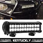 12INCH 72W LED Work Light Bar Spot Flood Combo for Offroad Pickup Van ATV 12V