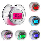 Multi-function  Snooze 7 Color Glowing Change Digital Alarm Clock Thermometer