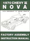 1970 CHEVROLET FACTORY ASSEMBLY MANUAL   CHEVY II NOVA