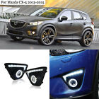 DRL LED Bar+COB Angel Eyes+HID Lamp Projector Lens Foglights For Mazda CX-5 13+