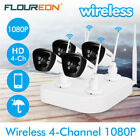 New 4CH Wireless CCTV 1080P DVR Kit Outdoor WIFI IP Camera Security NVR System