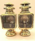 Antique Car Vintage Brass Oil Lamp Gray & Davis Model 104 Side Lights- Pair
