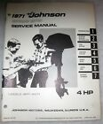 1971 Johnson Outboard Motor Service Manual 4 HP