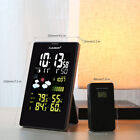 Wireless Weather Station In/Outdoor Temperature Humidity Alarm Snooze Function