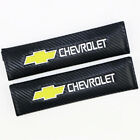 2x Car Carbon Fiber 3D Embroidery Chevrolet Seat Belt Safety Shoulder Pad Cover