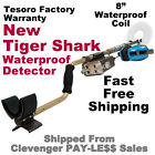 """NEW Tesoro Tiger Shark Waterproof Metal Detector with 8"""" Coil * FREE Shipping"""