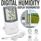 1*LCD Indoor/Outdoor Digital Thermometer Hygrometer Temperature Humidity Monitor