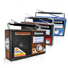 AM/FM/SW Radio Band Rechargeable with LED Flashlight Support TF Card USB NEW