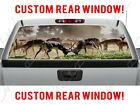 Gazel Fight Wilderness Animals Outdoors Truck Pickup Perforated Window Decal